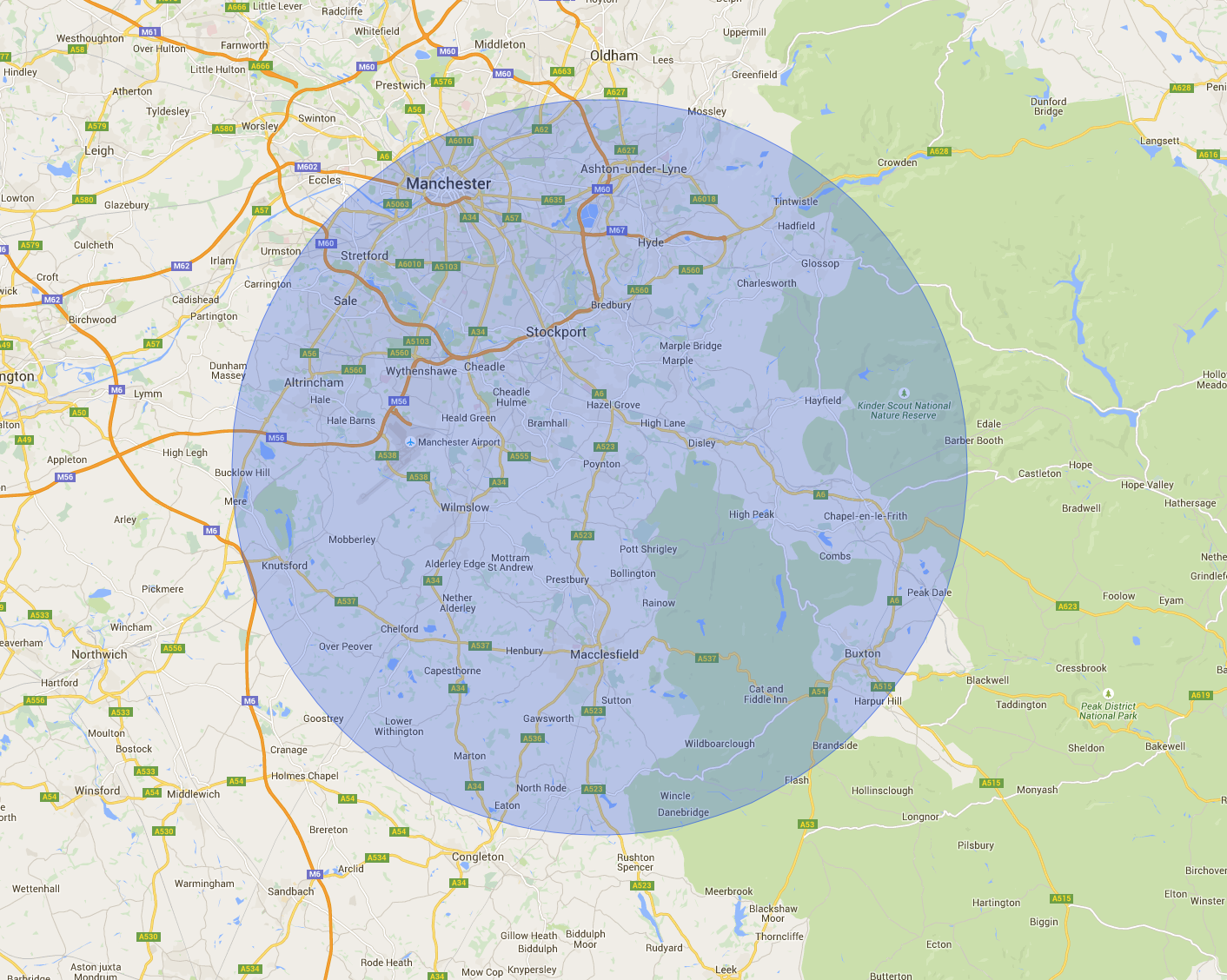 Areas Covered Cheshire East Chimney Sweep Professional
